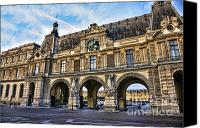 The Louvre Museum Canvas Prints - The Louvre Architecture Canvas Print by Chuck Kuhn