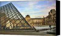 The Louvre Museum Canvas Prints - The Louvre IX Canvas Print by Chuck Kuhn
