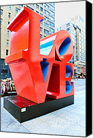 Indiana Canvas Prints - The Love Sculpture Canvas Print by Paul Ward