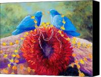 Ristra Canvas Prints - The Lovebirds Canvas Print by Candy Mayer