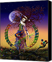 Clown Canvas Prints - The Lover Canvas Print by Kd Neeley