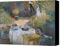 Le Jardin Canvas Prints - The Luncheon Canvas Print by Claude Monet