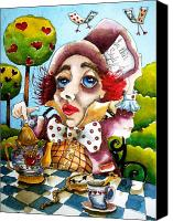 Mad Hatter Canvas Prints - The Mad Hatter Canvas Print by Lucia Stewart