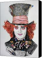 Mad Hatter Canvas Prints - The MAD HATTER Canvas Print by Wendy Rodgers