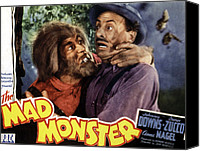 Subject Poster Art Canvas Prints - The Mad Monster, Glenn Strange Left Canvas Print by Everett
