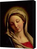 Virgin Mary Painting Canvas Prints - The Madonna Canvas Print by Il Sassoferrato