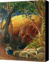 The Shepherdess Canvas Prints - The Magic Apple Tree Canvas Print by Samuel Palmer