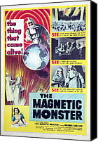 1950s Poster Art Canvas Prints - The Magnetic Monster, 1953 Canvas Print by Everett