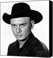 1960 Movies Canvas Prints - The Magnificent Seven, Yul Brynner, 1960 Canvas Print by Everett