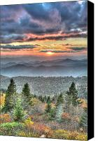 Mary Anne Baker Canvas Prints - The Majestic Blue Ridge Canvas Print by Mary Anne Baker
