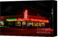 Photographers Atlanta Canvas Prints - The Majestic Diner Canvas Print by Corky Willis Atlanta Photography