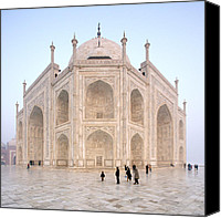 Emblematic Photo Canvas Prints - The Majestic Taj Mahal India Canvas Print by Karel Noppe