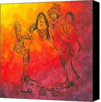 Pamela Allegretto-franz Canvas Prints - The Mamas and Papas Canvas Print by Pamela Allegretto