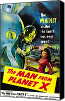 1950s Movies Canvas Prints - The Man From Planet X, Pat Goldin Canvas Print by Everett
