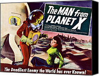 Horror Fantasy Movies Canvas Prints - The Man From Planet X, Pat Goldin Title Canvas Print by Everett