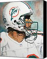 Miami Dolphins Canvas Prints - The Man Canvas Print by Maria Arango