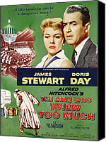 1956 Movies Canvas Prints - The Man Who Knew Too Much, Top Canvas Print by Everett