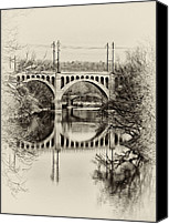 Belmont Canvas Prints - The Manayunk Bridge Across the Schuylkill Canvas Print by Bill Cannon