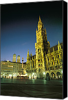 Frauenkirche Canvas Prints - The Marienplatz at night Canvas Print by Taylor S. Kennedy