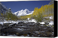 Alpine Canvas Prints - The Maroon Bells In Autumn Canvas Print by Robbie George