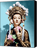 Gold Lame Canvas Prints - The Mask Of Fu Manchu, Myrna Loy, 1932 Canvas Print by Everett