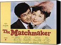 1950s Poster Art Canvas Prints - The Matchmaker, Anthony Perkins Canvas Print by Everett