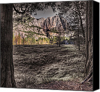 Selective Color Canvas Prints - The Meadows Sc Canvas Print by Stephen Campbell