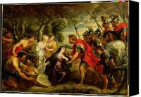 Later Canvas Prints - The Meeting of David and Abigail Canvas Print by Peter Paul Rubens