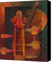 Classical Musical Art Canvas Prints - The Mellow Cello Canvas Print by Susanne Clark