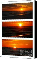 Triptych Canvas Prints - The Melting Sun  Canvas Print by Susanne Van Hulst