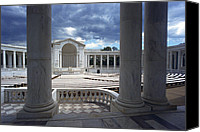 War Monuments And Shrines Canvas Prints - The Memorial Amphitheater At Arlington Canvas Print by Rex A. Stucky