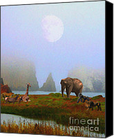 Headlands Canvas Prints - The Menagerie . Painterly Canvas Print by Wingsdomain Art and Photography