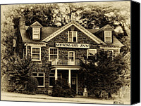 Chestnut Hill Canvas Prints - The Mermaid Inn - Chestnut Hill Canvas Print by Bill Cannon