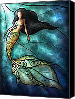 Siren Canvas Prints - The Mermaid Canvas Print by Mandie Manzano