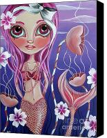 Fantasy Canvas Prints - The Mermaids Garden Canvas Print by Jaz Higgins
