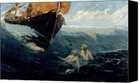 Siren Canvas Prints - The Mermaids Rock Canvas Print by Edward Matthew Hale
