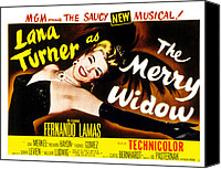 1950s Poster Art Canvas Prints - The Merry Widow, Lana Turner, 1952 Canvas Print by Everett