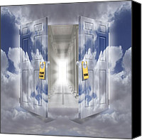 Heavens Canvas Prints - The Message Canvas Print by Mike McGlothlen