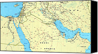 Iraq Canvas Prints - The Middle East. 1990 Canvas Print by Everett