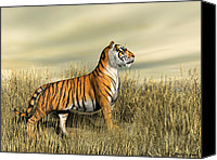 Bigcat Canvas Prints - The Mighty Tiger Canvas Print by Walter Colvin