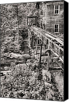 Chambers Canvas Prints - The Mill in Black and White Canvas Print by JC Findley