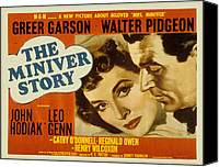 1950s Poster Art Canvas Prints - The Miniver Story, Greer Garson, Walter Canvas Print by Everett