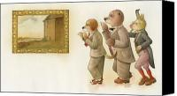 Goat Canvas Prints - The Missing Picture24 Canvas Print by Kestutis Kasparavicius