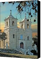 Catholic Church Canvas Prints - The Mission Canvas Print by Robert Anschutz