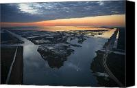Mississippi River Canvas Prints - The Mississippi River Gulf Outlet Canvas Print by Tyrone Turner