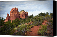 Red Rock Formations Canvas Prints - The Mitten A Formal Portrait Canvas Print by Dan Turner