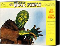 1956 Movies Canvas Prints - The Mole People, 1956 Canvas Print by Everett
