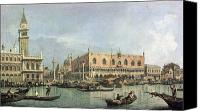 Gondoliers Canvas Prints - The Molo and the Piazzetta San Marco Canvas Print by Canaletto