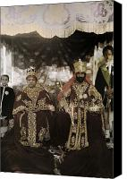 Red Clothing Canvas Prints - The Monarchs Haile Selassie The First Canvas Print by W. Robert Moore