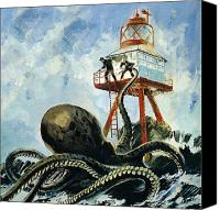 Cay Canvas Prints - The monster of Serrana Cay Canvas Print by Graham Coton
